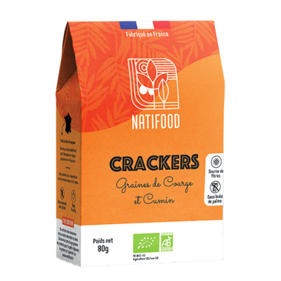 Crackers Graines de Courges & Cumin  - 1